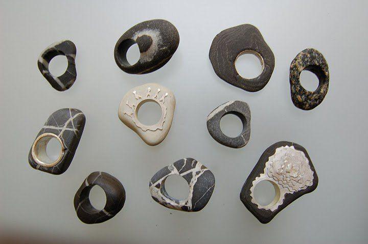 Angelo Lomuscio - Anelli di con i sassi di Maratea - pebbles' rings