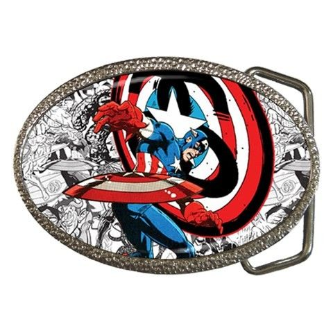 Stussy X Marvel Comics Series 1 Posters Captain America Belt Buckle