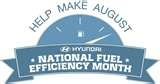 """Help make August """"FUEL EFFICIENCY MONTH"""" by visiting Hyundai's Facebook page and signing their petition. While you're there, use the U.S. Department of Energy's official source for fuel economy information to do a side-by-side MPG comparison between the car you're driving now and a new more fuel efficient car."""