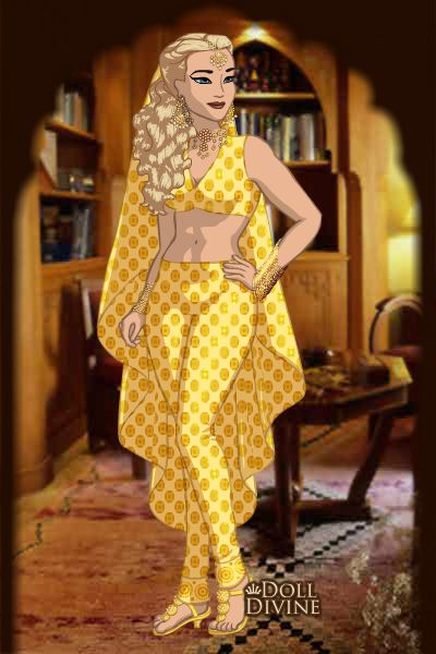 Princesa Eva en traje Árabe