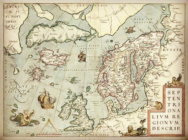 1572 Ortelius Map of the Arctic (Scandinavia Iceland Greenland)  https://ift.tt/2zax9nC One of Abraham Ortelius' most interesting… | Antique  maps, Map, Antique map