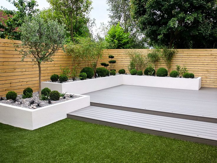 In this project we aimed to create a stylish garden which was both family friendly and low maintenance. Eco decking was used to create a large contemporary decking area. This composite product is slip resistant and is created using 95% recycled materials,