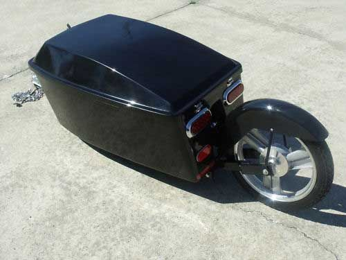 One wheel cargo trailer for Motorcycles