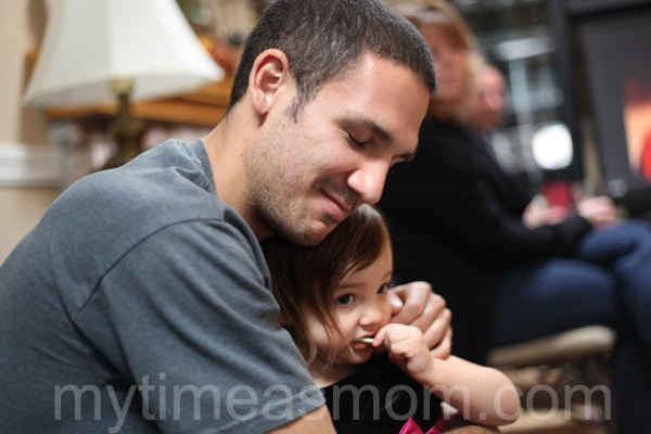 Sometimes luck can change on a dime. Can you spare one to help this man? Ryan and Layla – Thanksgiving 2011 @Jessica Torres