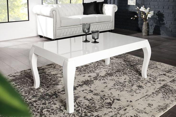 Ława Barocco to stolik wykonany z nowoczesnych materiałów (lakierowany na biało MDF) nawiązujący swą stylistyką do baroku.