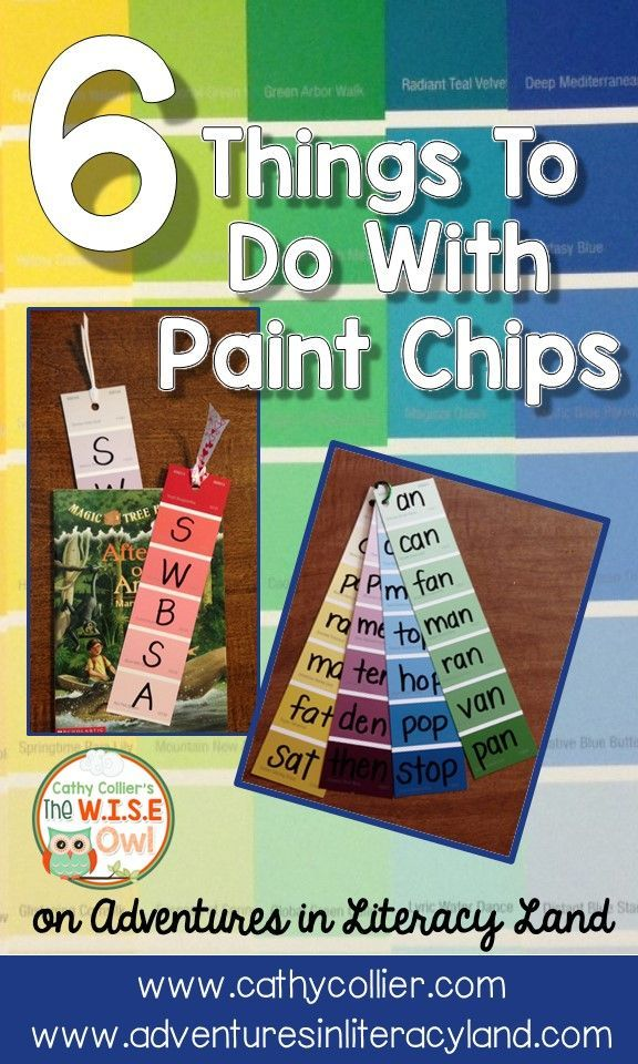 I LOVE paint chips. They can be used for so many things in and out of the classroom. This post is about 6 ways to use these in your classroom.