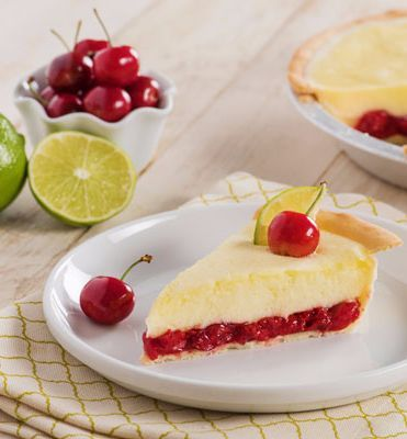 Cherry Limeade Margarita Pie-If you're in search of an unapologetic Margarita Pie look no further. Fresh lime juice tequila and orange liquor make this recipe muy delicioso. A no brainer to serve for a Cinco de Mayo celebration but also a perfect dessert for any spring or summer time get together with family and friends.