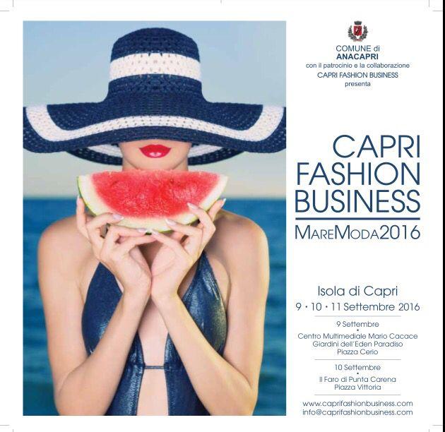 Capri Fashion Business - MareModa 2016 | 09-11 settembre 2016 Isola di Capri