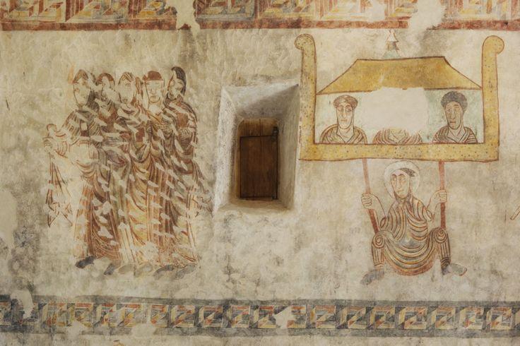 Die ältesten Fresken im deutschen Siedlungsraum in der Prokulus Kirche in Naturns. #suedtirol #kirche #fresken