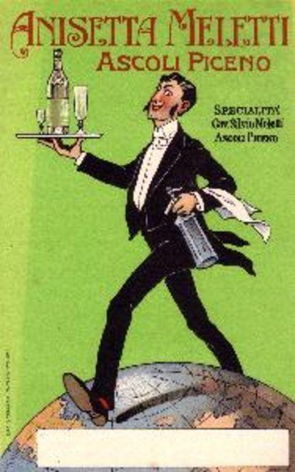 Vintage Italian Posters ~ #illustrator #Italian #posters ~ Anisetta Meletti: a historic anise liqueur, from Ascoli Piceno