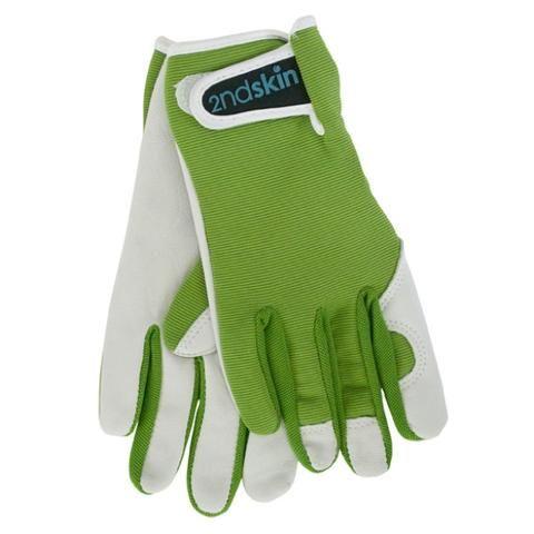 Men's Goatskin and Lycra Gloves- Annabel Trends - Olive Green colour