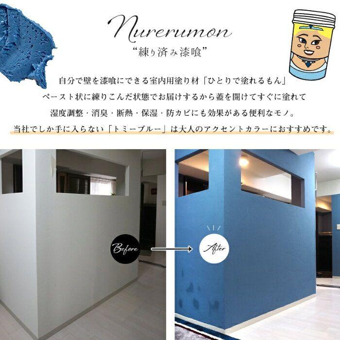 楽天市場 漆喰 ひとりで塗れるもん 11kg 外壁 トイレ程度の広さ用