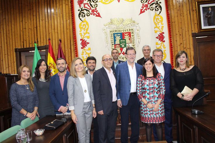 Mariano Rajoy, Prime Minister of Spain, dropped into Huércal-Overa in Almería and took a tour of the municipality as part of a visit to the province, spanning a few days.