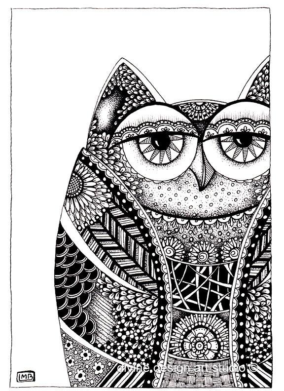 Print 5x7 Wise Owl. $20.00, via Etsy.