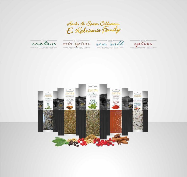 Σχεδιασμός της Premium σειράς προϊόντων για την εταιρεία KABRIANIS FAMILY #packaging #herbs #oliveoil #leftgraphic #tea