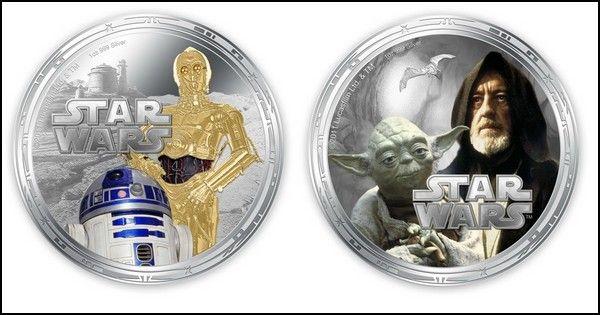 Деньги Ниуэ: монеты с персонажами «Звездных Войн»  Много всякой замечательной продукции выпускается для фанатов «Звездных Войн». Это и игрушки персонажей, и компьютерные игры, и специальная вариация игровой консоли Xbox 360. А с недавних пор появились и деньги с персонажами из этой киноэпопеи. Причем, вполне настоящие, легальные деньги, имеющие ход в небольшом тихоокеанском государстве Ниуэ.    деньги, дизайн, кино, Звездные Войны, Новая Зеландия