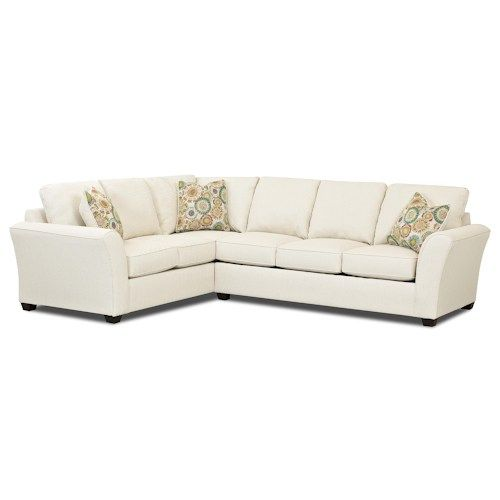 Klaussner Sedgewick Transitional 2 Piece Sectional Sleeper Sofa with Innerspring Mattress