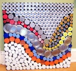 "Jennifer Houck's Bottle Cap Art via ""How Can I Recycle This?"""