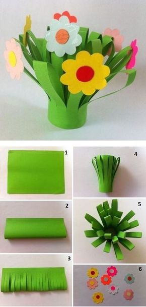spring flower bouquet kids craft - flower craft photo