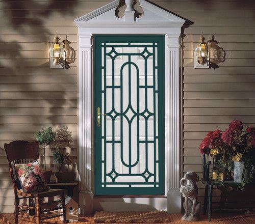 Perfect Painted Door With Contrasting Painted Security Door