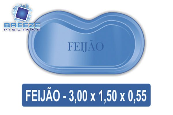 Piscina de Fibra Modelo Feijão  APiscina de Fibra Feijão oferece um belo design, boa profundidade, feita somente com matéria-prima de primeira linha. ideal para pequenos espaços.  Itens Inclusos: 1 Piscina de Fibra casco deaté 2.500 Litros (Piscina de Fibra Feijão)  1 Auto Escorvantes Para uso nos filtros de piscinas 1 Filtro Tanque monobloco   Características: Capacidade: 2.500Litros. Comprimento: 3,00metros. Largura: 1,50 metros. Profundidade: De até 55 metros.  Valor: R$ 3.000,00