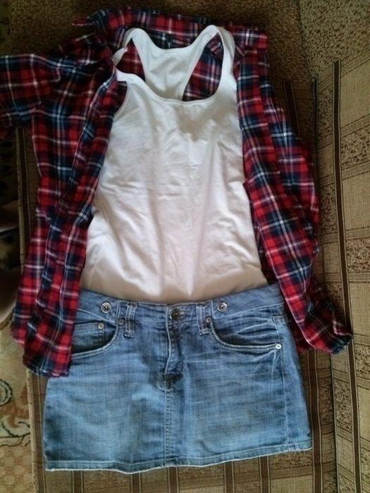 spódniczka jeans Bright Star - vinted.pl