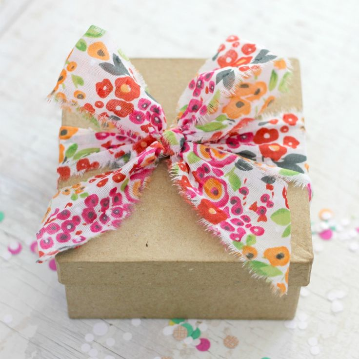 floral fabric ribbon