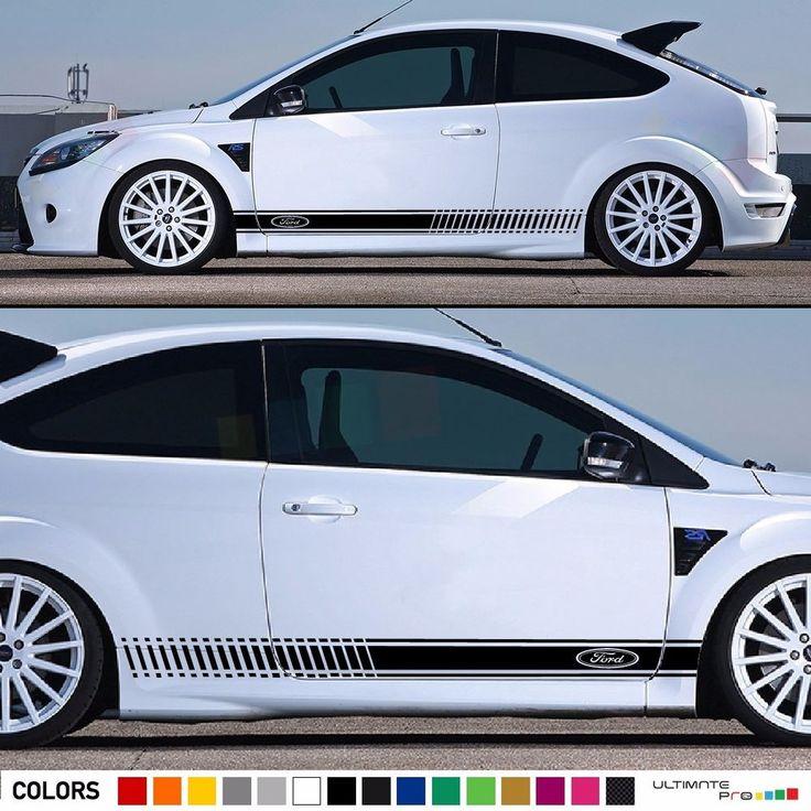Decal Sticker Stripe Kit for Ford Focus RS ST Xenon Headlights LED Spoiler Visor #ultimateprocy