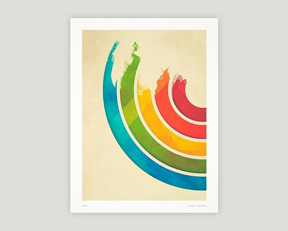 Rainbow Digital Print, Printable Wall Art, Digital Download
