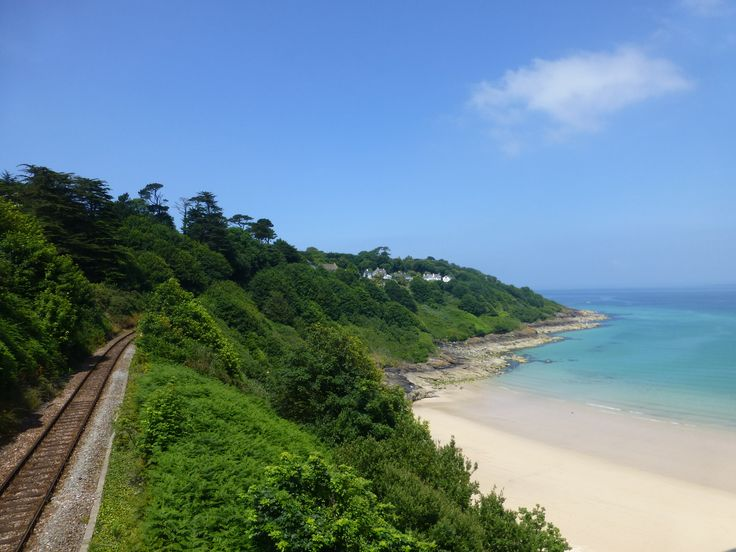The #StIves branch line overlooking Carbis Bay by Tim Lewis #rail
