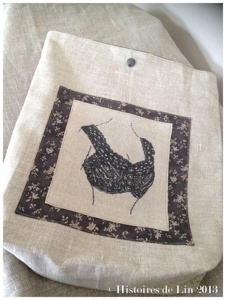 La Brassière-Mes dessous chics-lingerie-cross stitch-Point de croix-punto de cruz-Embroidery