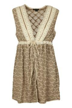 Threadz Lace Detail Vest W Tie