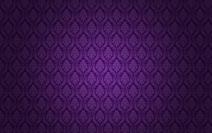 Dark Blue Damask Wallpaper: Purple-damask-peach-flock-by-angeldust.