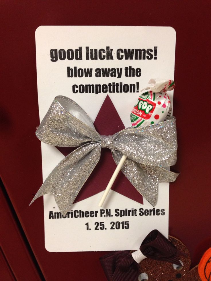Competition cheerleading locker sign/decoration.