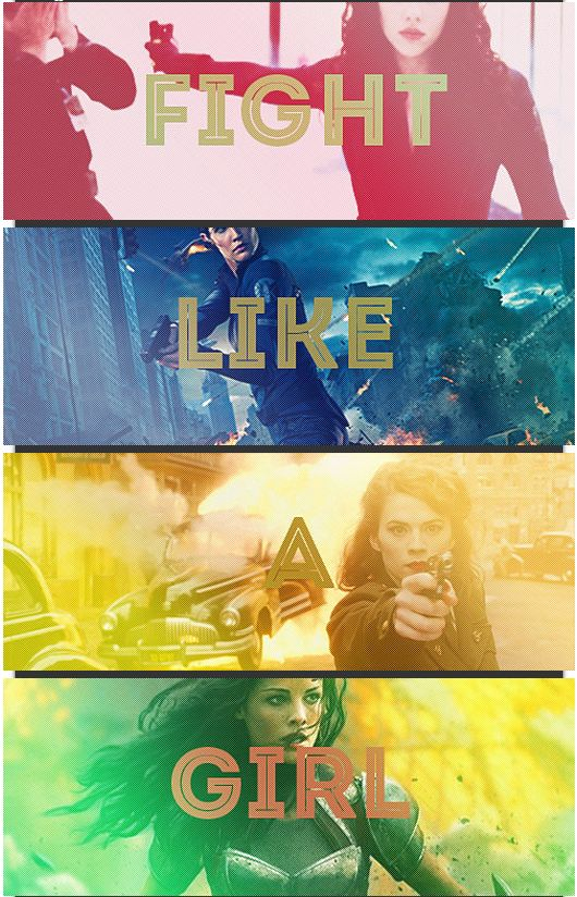 Fight like a girl - Black Widow, Maria Hill, Agent Peggy Carter, Lady Sif