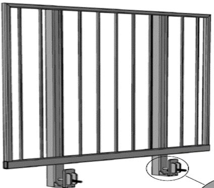 Complete Aluminum Guardrail Frame for Public