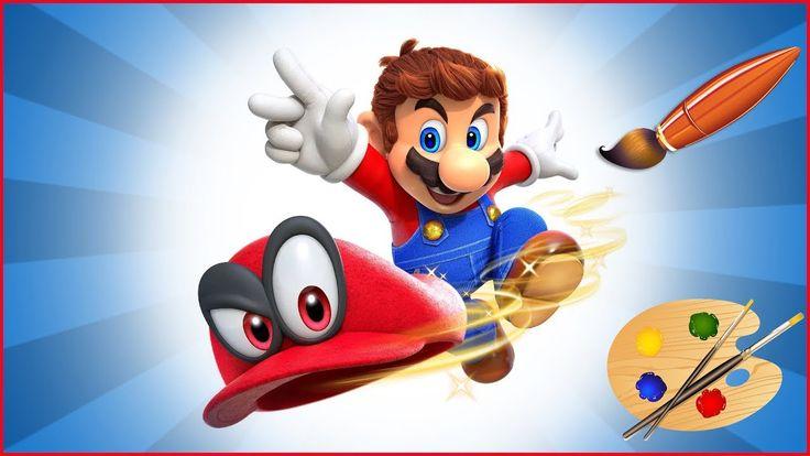 Mario Throws His Hat Kids Coloring Book Coloring Pages For Children Super Mario Super Mario Geburtstag Mario Geburtstagsparty