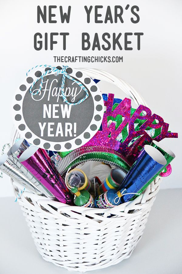 New Year's Eve Gift Basket - with free printable tag