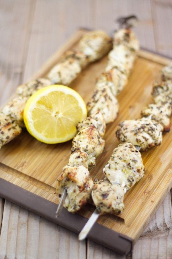 Souvlaki Recipe | Greek Chicken Skewer Recipe | Lemon & Olives