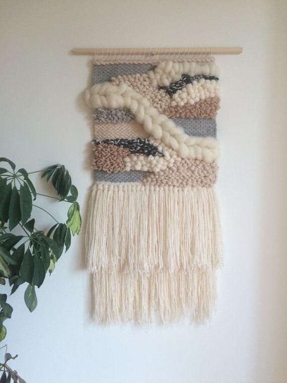 Woven Wall Hanging // CUSTOM ORDER por JessHotsonTextiles en Etsy