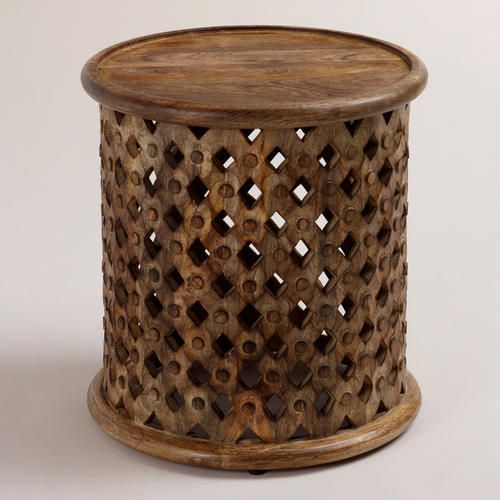 Tribal Carved Wood Accent Table from Cost Plus World Market's New Desert Caravan Collection >> #WorldMarket Home Decor Ideas
