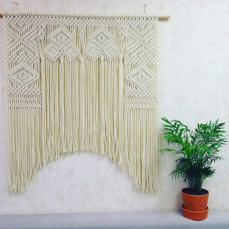 Macrame Window Curtain Large Macrame Wall Hanging