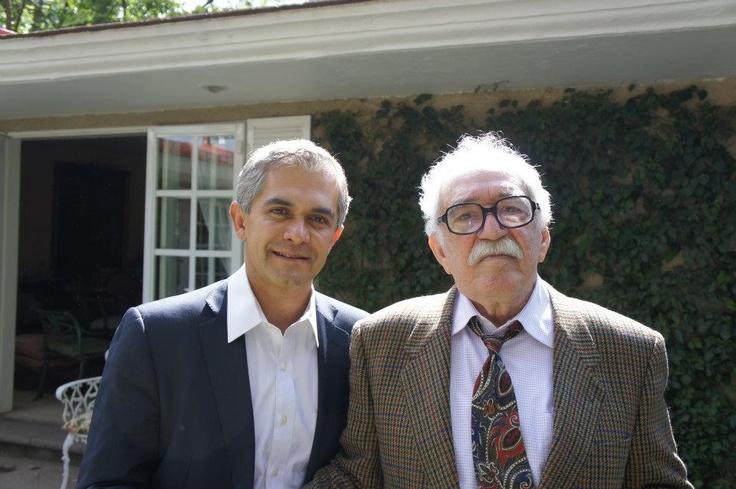 @ManceraMiguelMX con Gabriel García Márquez