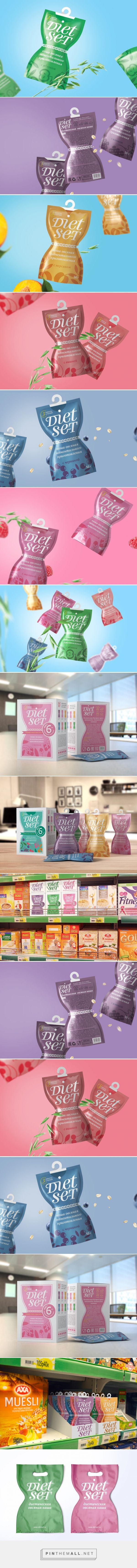 Diet Set - Instant #Cereals #concept #packaging by Arthur Lebsack - http://www.packagingoftheworld.com/2015/02/diet-set-instant-cereals.html