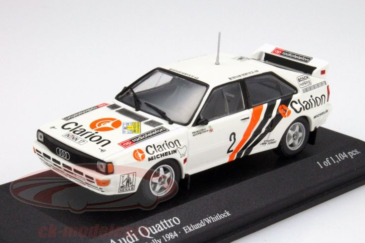 Audi Quattro Rallye, Rally Sweden 1984, No.2, Per Eklund / Dave Whitlock. Minichamps, 1/43, Limited Edition 1104 pcs. Price (2016): 25 EUR.