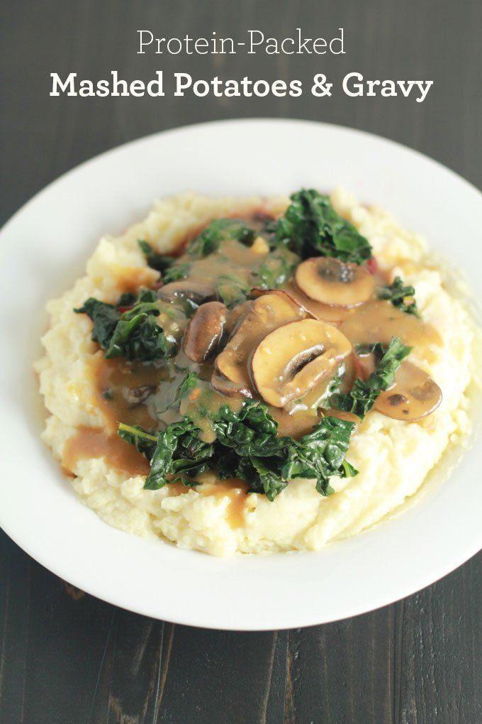 Mashed potatoes and gravy for dinner?Yes, please! | Protein-Packed Vegan Mashed Potatoes and Gravy | http://eatwithinyourmeans.com