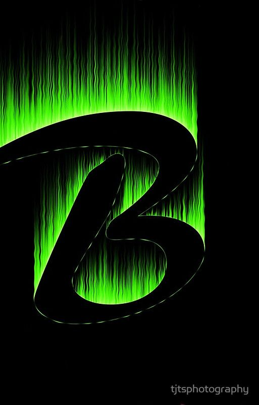 letter b monogram green 1 get this green fire letter b as a iphone case or other items  more
