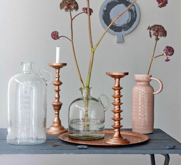 Voeg koper toe aan je interieur. Makkelijker dan je denkt met de motip koperspray! http://www.decohome.nl/assortiment/producten/motip/huis-en-hobby-effectlak-koper-zilver-of-goud