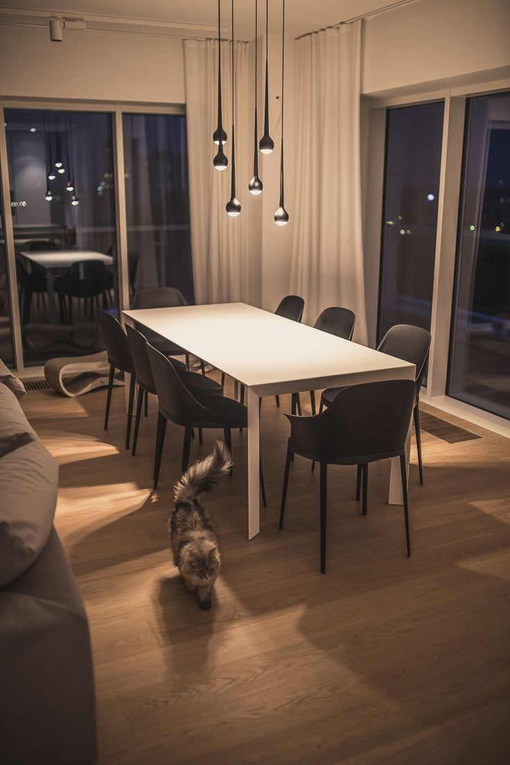 Dining Room / private apartament / Poznan / project Ipnotic Architecture / Kristalia Table / Tobias Grau Light