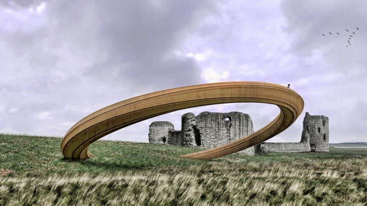 The Iron Ring of Flint Castle in Wales